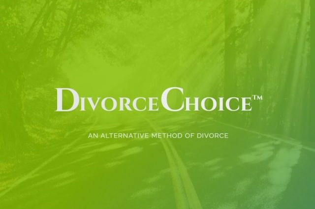 Divorce Choice green gradient image