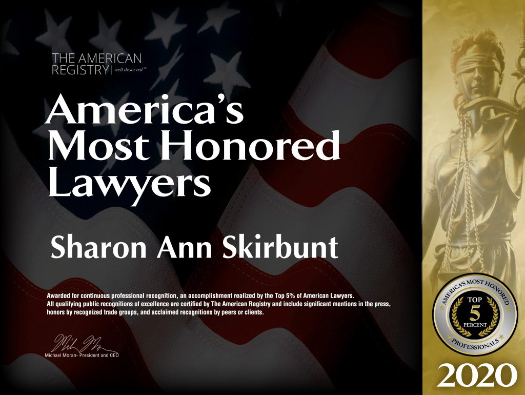 America's Most Honored Lawyers - Sharon Ann Skirbunt